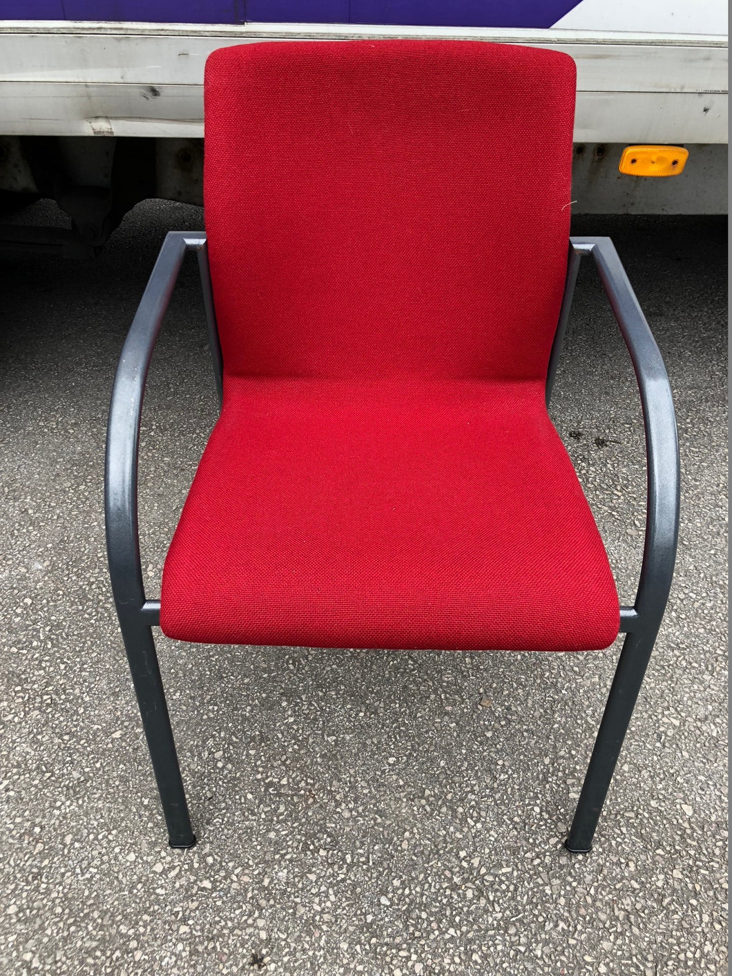 Red Cloth Stackable Meeting/Conference Chair