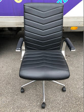 Load image into Gallery viewer, Black Faux Leather Executive Chair With Chrome Finish - Flogit2us.com