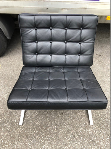 Barcelona Chair Black Leather - Flogit2us.com