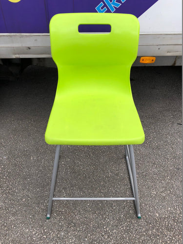 Lime Green Plastic Stacking Stool/Chair