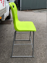 Load image into Gallery viewer, Lime Green Plastic Stacking Stool/Chair