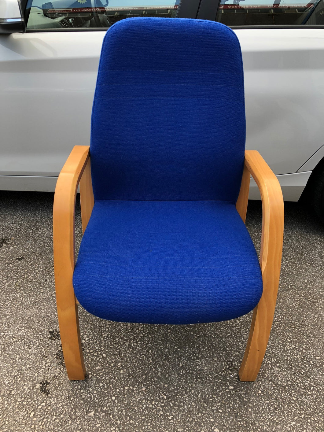Blue Cloth Reception/Meeting Chair - Flogit2us.com