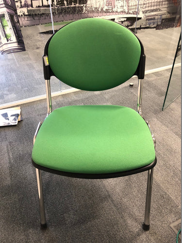 Green Cloth Stackable Meeting/Conference Chair