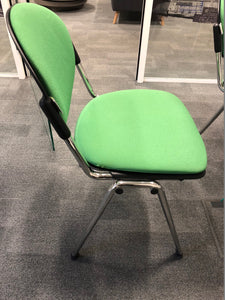 Green Cloth Stackable Meeting/Conference Chair - Flogit2us.com