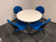 Load image into Gallery viewer, White Round Meeting Table And Chairs