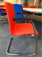 Load image into Gallery viewer, Red Meeting/Conference Chair With Chrome Finish - Flogit2us.com