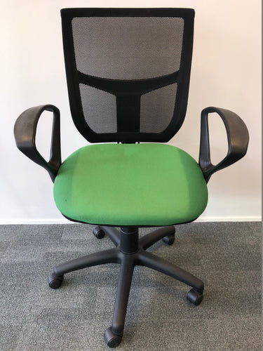 Mesh Back Office Chair With Arms Green