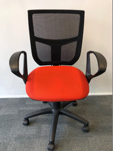 Load image into Gallery viewer, Mesh Back Office Chair With Arms Red