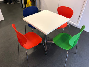 White Canteen Table And Chairs - Flogit2us.com
