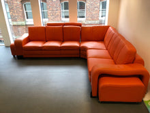 Load image into Gallery viewer, Orange Leather Reception Corner Sofa - Flogit2us.com
