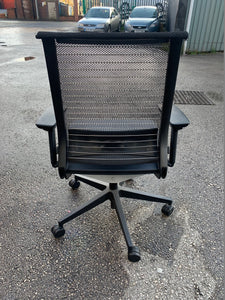 Steelcase Think Office Chair - Black/Grey - Flogit2us.com