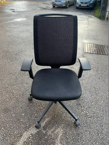 Steelcase Reply Mesh Back Office Chair - Black - Flogit2us.com