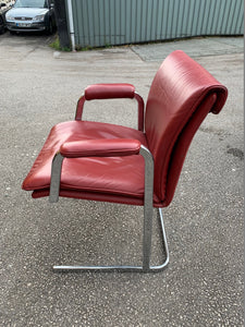 Boss Design Delphi Red Leather Visitor Chair - Flogit2us.com