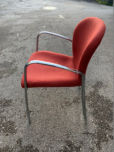 Burgundy Chrome Frame Meeting/Conference Chair - Flogit2us.com