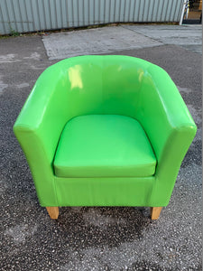 Faux Leather Tub Chair - Flogit2us.com