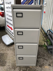 Trexus 4 Drawer Grey Filing Cabinet - Flogit2us.com