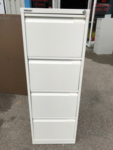 Load image into Gallery viewer, Bisley 4 Drawer White Filing Cabinet