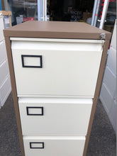 Load image into Gallery viewer, Trexus 4 Drawer Coffee And Cream Filing Cabinet - Flogit2us.com