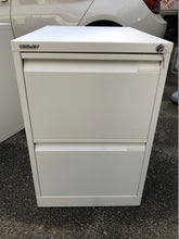 Load image into Gallery viewer, Bisley 2 Drawer White Filing Cabinet