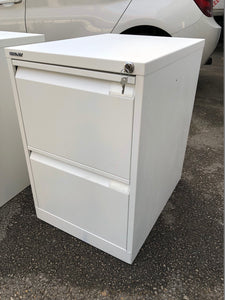 Bisley 2 Drawer White Filing Cabinet - Flogit2us.com