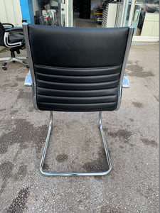 Abbey Leather Faced Visitor/Boardroom Chair - Flogit2us.com