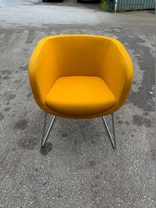 Nebula Upholstered Tub Chair - Mustard - Flogit2us.com