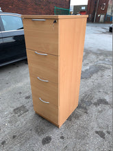 Load image into Gallery viewer, Beech 4 Drawer Filing Cabinet - Flogit2us.com