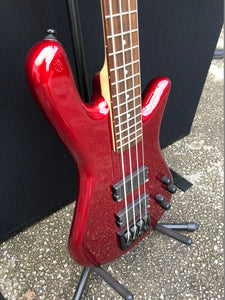 Spector Performer 4 String Electric Bass in Metallic Red