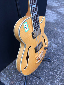 D'Angelico Excell Ex-Bass Electric Bass Guitar Natural - Flogit2us.com