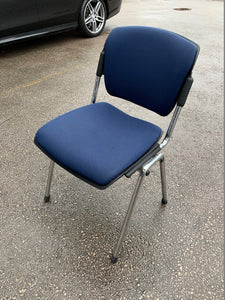 Fabric Meeting Room/Reception Chair - Navy Blue - Flogit2us.com