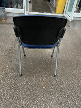 Load image into Gallery viewer, Fabric Meeting Room/Reception Chair - Navy Blue - Flogit2us.com