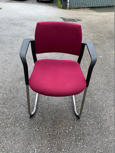 Cerantola Burgundy Meeting Room/Conference Chair - Flogit2us.com