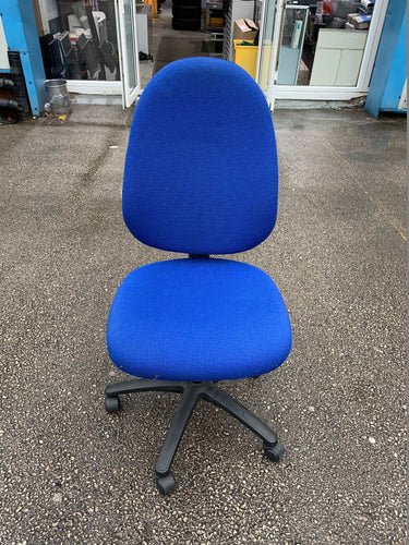 Blue Multi Lever Operators Chair - Flogit2us.com