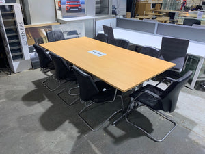Beech Meeting Table With Power & Network Module - Flogit2us.com