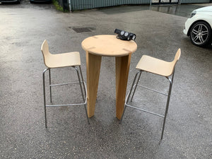 Poseur Table With Built-in Network & Power Sockets - Flogit2us.com