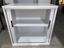 Load image into Gallery viewer, Silverline White Tambour Cupboard - 1115mm - Flogit2us.com