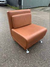 Load image into Gallery viewer, Brown Leather Reception/Break Out Chair - Flogit2us.com
