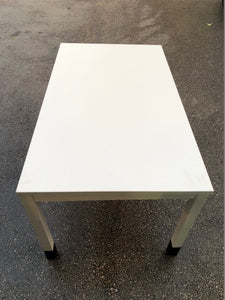 1400mm White Straight Desk - Flogit2us.com