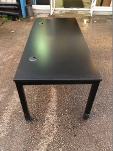 1800mm Black Straight Desk - Flogit2us.com