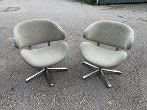 Cream Upholstered Swivel Reception Chairs - Flogit2us.com