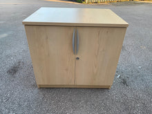 Load image into Gallery viewer, Low Maple 2 Door Cupboard - Flogit2us.com