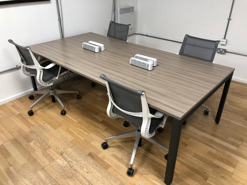 Herman Miller Memo 4 Person Workstation Grey
