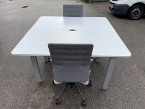 White 2 Desk Workstation - 1600mm - Flogit2us.com