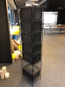 7 Person/Section Mesh Cage Locker Unit - Flogit2us.com