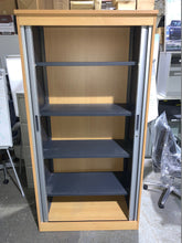 Load image into Gallery viewer, Tall Beech Tambour Cupboard - Flogit2us.com