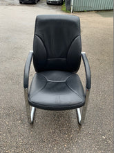 Load image into Gallery viewer, High Back Leather Cantilever Boardroom Chair - Black - Flogit2us.com