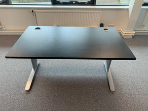 1400mm Black Straight Desk - Flogit2us.com