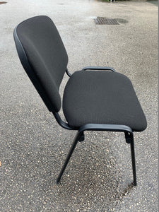 Fabric Meeting Room/Reception Chair - Black - Flogit2us.com