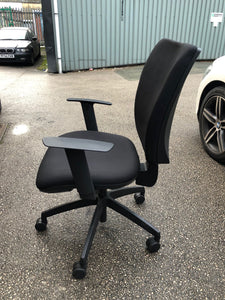 Black High Back Operators Chair With Arms - Flogit2us.com