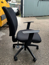 Load image into Gallery viewer, Black High Back Operators Chair With Arms - Flogit2us.com